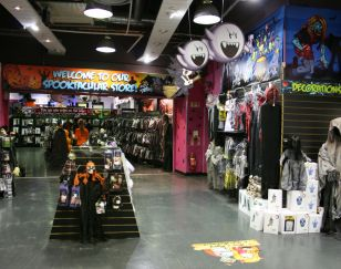 In-Store Themed Display at Halloween HQ