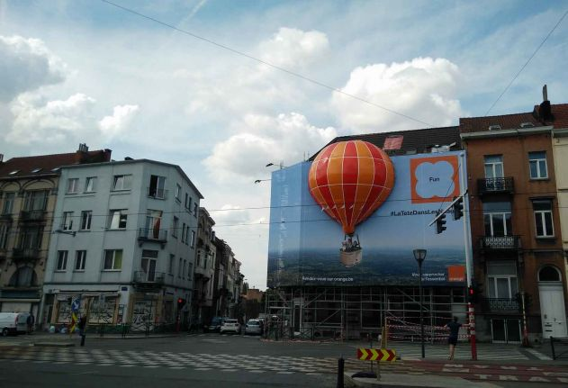 3D Inflatable on Building Banner