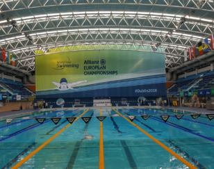 Hanging Mesh Banner World Para Swimming European Championships